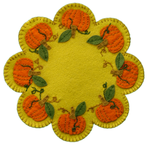 Lumenaris Products Felt Felt Mats Pumpkin Mat