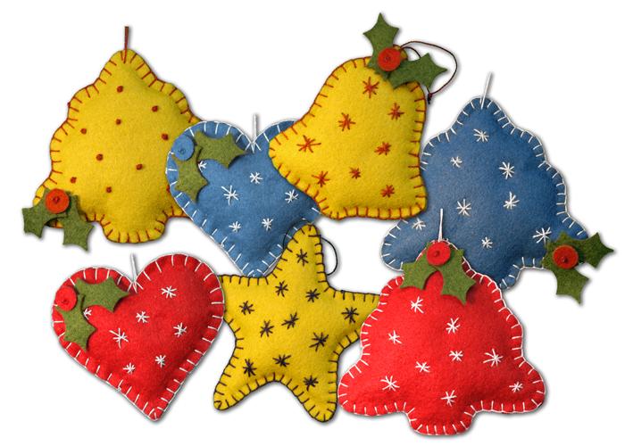 lumenaris | products | felt | ornaments | old-fashioned christmas
