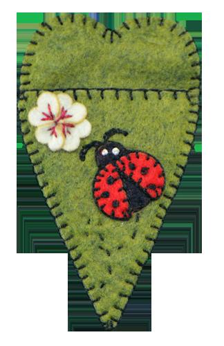 Lumenaris Products Felt Ladybug Scissor Sheath